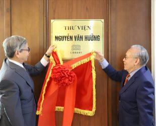 Ra mắt Thư viện Nguyễn Văn Hưởng